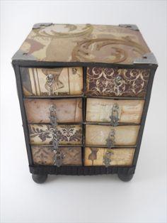 altered matchbox   www.craft-t-creations.blogspot.com