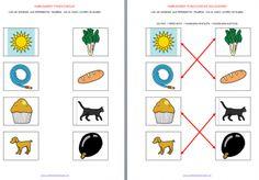 Orientación Andújar: Unir imágenes que tengan igual número de sílabas HABILIDADES FONOLÓGICAS