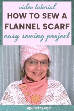 In this sewing tutorial I will show you how to sew a scarf from wool flannel fabric. Fashion changes, but scarves are always relevant and at the same time practical and comfortable so it's good to know how to sew a scarf easily, especially that it's a very easy beginner sewing project. Also learn how to cut fabric straight, how to sew buttonholes, how to sew on a button.