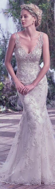 Wedding Dress by Maggie Sottero 2016 Fall/Winter Collection - GREER   #maggiesottero #maggiebride