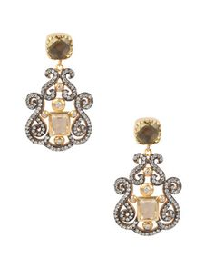 Traditional Stones Studded Silver And Brass Alloy Earrings | Rs. 4,750 | http://voylla.com