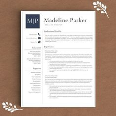 Professional Resume Template for Word | 1, 2 and 3 Page Resume Template + Cover Letter + References + Icons | Creative Resume Template