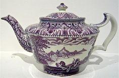 Lovely lavendar transferware pot