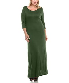 0bb1e9a302 Another great find on #zulily! Olive Maxi Dress #zulilyfinds Flattering  Dresses, Plus