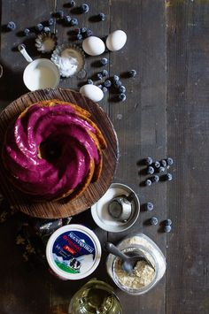 This Blueberry Yoghurt Bundt Cake is made more tender with @MountainHighYoghurt.