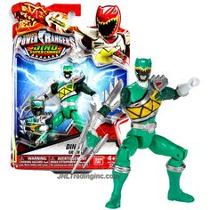 Bandai Year 2015 Saban's Power Rangers Dino Super Charge Series 5 Inch Tall Action Figure - Dino Steel GREEN RANGER aka Kyle with Raptor Claw