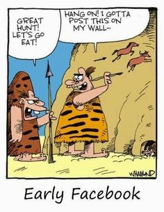 Funny Cavemen Early Facebook