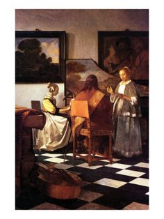 Jan Vermeer  (Delft 1632–1675)   Musical Trio