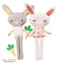 Bunny Doll PDF Sewing Pattern Bunny Softie Plush by GandGPatterns, $10.00