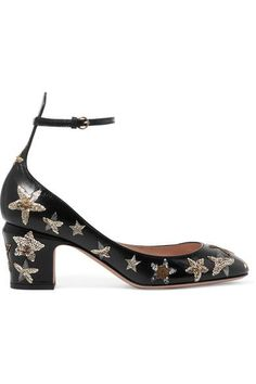 421d4bc3b534 Heel measures approximately 60mm  2.5 inches Black leather Buckle-fastening  ankle strap Come with