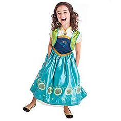 Disney Anna Costume for Kids | Disney StoreAnna Costume for Kids - They'll be excited to catch <i>Frozen Fever</i> in the form of this Elsa Costume. Inspired by the outfit worn by the birthday girl in the short sequel to the hit movie, this detailed gown includes the satin vest and jeweled brooch.