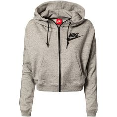 Nike District 72 Fz Hoody ($120) ❤ liked on Polyvore featuring tops, hoodies, jackets, outerwear, shirts, grey, sports fashion, sweaters sports fashion, womens-fashion and grey zip hoodie