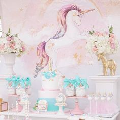 Magical Unicorn Birthday Party TheIcedSugarCookie.com Styled by M&J Kreations Event Stylist And Planner