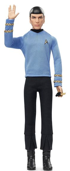 startrek2009 Barbie Star Trek 50th Anniversary Mr. Spock Doll