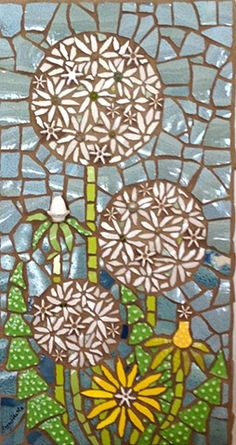 By the Side of the Road by Anja Hertle  ~  Maplestone Gallery  ~  Contemporary Mosaic Art