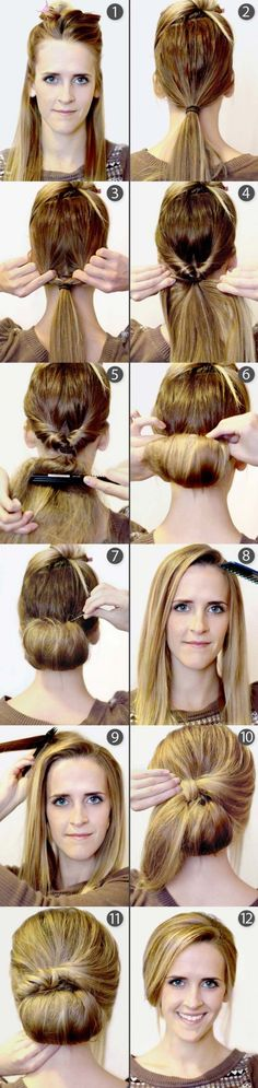 Vintage Updo Hairstyle Tutorial