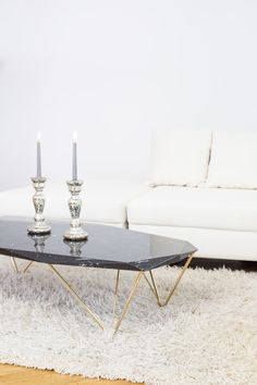 EPOQUE-liquid marble black coffee table