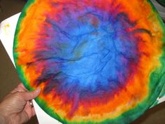 """Coffee Filter Color Wheels - Phyl at """"There's a Dragon in My Art Room"""" has some cool ideas for coffee filters."""