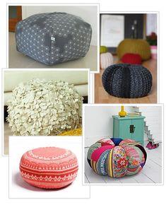 Floor pouf pattern ideas