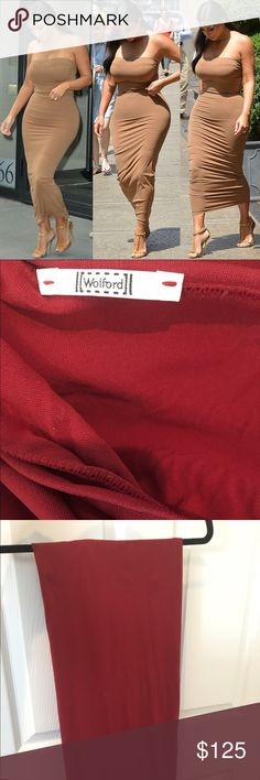 Wolford Fatal dress as seen on Kim K sz M burgundy Wolford Fatal dress as seen on Kim K sz M burgundy color. Never worn. Retails for $215 Wolford Dresses