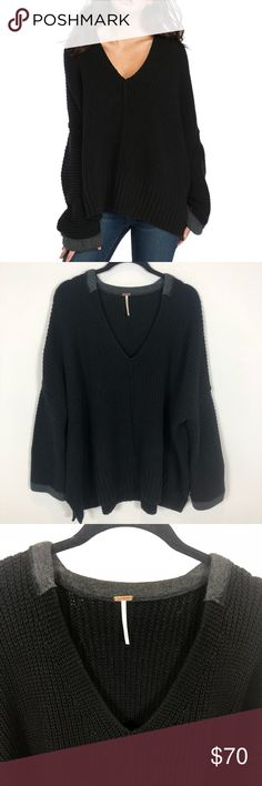 4ad33c716 Free People M/L Take Over Me V-Neck Sweater Free People M/