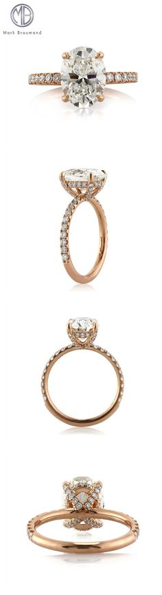 This astonishing rose gold oval cut diamond engagement ring is astonishing! This handcrafted masterpiece features a stunning oval cut diamond in the center. Radiant Engagement Rings, Oval Engagement, Vintage Engagement Rings, Vintage Rings, Wedding Jewelry, Wedding Rings, Wedding Gold, Luxury Wedding, Do It Yourself Fashion