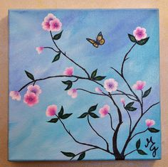 A TOUCH OF SPRING 12 x 12 Blossoms Branches by MiaGalleria on Etsy, $55.00