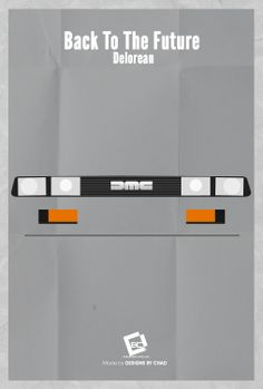Back to the Future (1985) ~ Minimal Movie Poster by Chadski51 ~ Retro Cars Series