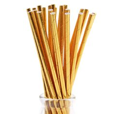Glam up your glass with these shiny gold foil solid paper straws! They come in a pack of 25 and are also availble in striped gold foil or a solid/striped mix pack. Gold Foil Paper, Shops, Easter Table, Paper Straws, Diffuser, Party Supplies, Etsy, Glass, Decorations