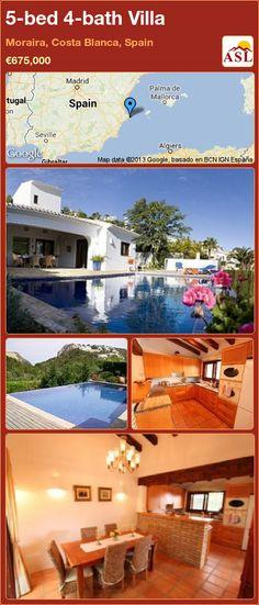 5-bed 4-bath Villa in Moraira, Costa Blanca, Spain ►€675,000 #PropertyForSaleInSpain