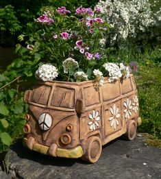 Most recent Free of Charge pottery handmade pots Thoughts Hippie van ,,hippie van pot,, hippe van box
