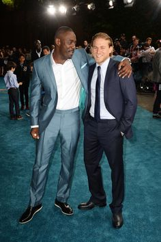 Idris Elba paired up with Charlie Hunnam at the London premiere of Pacific Rim in July 2013.