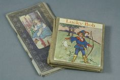 Antique Children's Mini Books Good Night and Good Morning and Lucky Bob