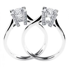 Simply Elegant!  Harry Winston Diamond rings!
