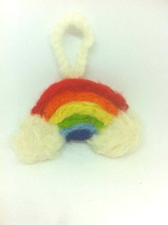 Rainbow Decoration Keyring Irish Leprechaun St Patricks Day Ireland Souveneir Dublin Galway Emerald Isle Needle Felted Wool Waldorf Gift