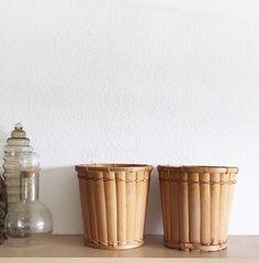 $54 for sale 2020 Woven rattan bamboo basket planter set / flower pot   Etsy