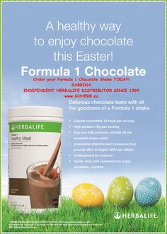 Try a HEALTHY WAY to enjoy CHOCOLATE this EASTER! Shop your Herbalife CHOCOLATE Shake NOW! SABRINA INDEPENDENT HERBALIFE DISTRIBUTOR SINCE 1994 Solutions for Weight Management, SPORTS Nutrition, Beauty and LIFESTYLE Helping you enjoy a healthy, active, successful life! Empowering You To Change Call +12143290702 https://www.goherbalife.com/goherb