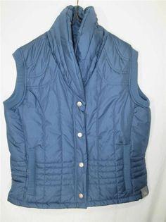Womens Spiewak Ski Vest Blue Insulated Nylon Weave Size L #Spiewak #Vest
