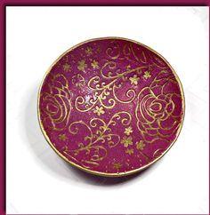 Custom Burgundy Wedding Ring Holder Handmade Ring by BeadazzleMe