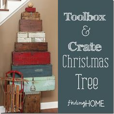 Toolbox & Crate Christmas Tree