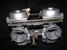 Café Racer rebuilt carburetors from Spyder Cycle Works. Gorgeous! SUZUKI-GS300L-GS300-GS-250T
