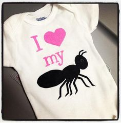 I love my Aunt  I heart my Aunt  Infant Onesie  by bugarooboutique, $17.50
