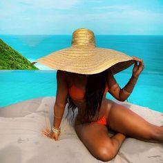 Vacation Mood, Girls Vacation, Vacation Outfits, Black Girl Magic, Black Girls, Black Girl Beach, Black Girl Bikini, Summer Girls, Tattoo Girls