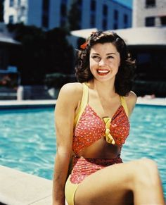 Esther Williams: (swimming champion) in vintage 50's swimsuit!