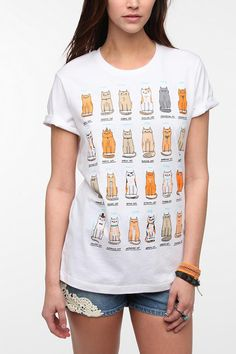 Gemma Correll Cats Of The World Tee #urbanoutfitters
