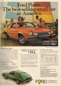 Ford Pinto (1977) ...mine was brown. This was the second car that I drove to Ford many years, until they started crashing gas tanks.
