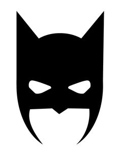Batman Mask Halloween Silhouette  |   H & M Coloring Pages
