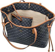 Joop Lara Cortina Shopper Large - Blue Cloth Bags, Vinyl, Louis Vuitton Damier, Cool Girl, Tote Bag, My Style, Girl Things, Pattern, Outfits