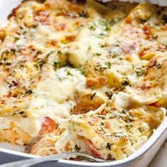 Easy seafood lasagne recipe from a Mumsnetter, just as delicious with frozen fish. Fish Recipes, Seafood Recipes, Cooking Recipes, Healthy Recipes, Seafood Dishes, Pasta Dishes, I Love Food, Good Food, Seafood Lasagna