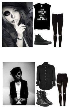 """We are new here can someone show us around //Ally -sighs, looking around- //Saint"" by xxthepandaanonxx ❤ liked on Polyvore featuring Miss Selfridge, Topshop, Giuseppe Zanotti and Converse"